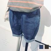 棉牛仔短褲夏季男童五分中褲男寶女童寶寶百搭短褲 全館免運