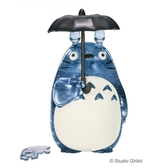 【拼圖總動員 PUZZLE STORY】龍貓(灰) 日本進口拼圖/Beverly/吉卜力/42P/立體透明塑膠