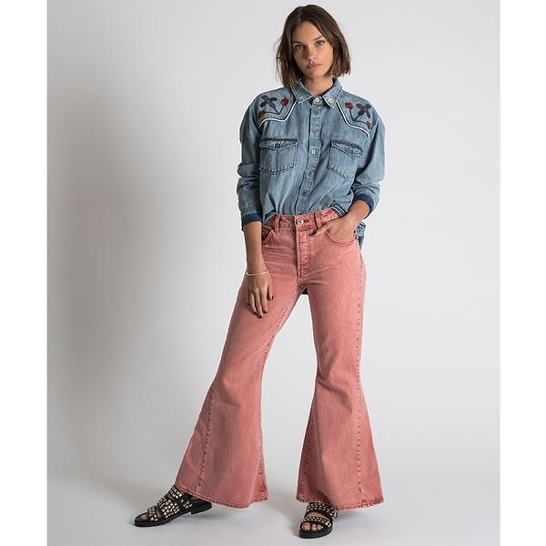 ONETEASPOON 牛仔褲 MARINES MW 牛仔褲- 粉