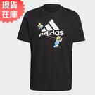 【現貨】Adidas x THE SIMPSONS 男裝 短袖 辛普森家庭 雪球 純棉 黑【運動世界】GS6314