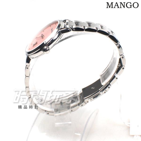 (活動價) MANGO 花漾蝶舞 任意搭配 女錶 防水手錶 不銹鋼 快拆雙錶帶套組 粉紅色 MA6755L-10