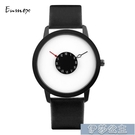 手錶男 節日禮物Enmex譯時顛覆秒針 創意腕錶 特色視角 倒立指針簡潔手錶