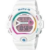 【CASIO 卡西歐】Baby-G 繽紛慢跑錶-白 BG-6903-7CDR