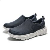 SKECHERS Go Walk Evolution 白底 深藍網 懶人鞋 ( 布魯克林 ) 2019/5月 54738NVGY