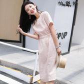 棉麻連衣裙女