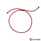 Jove Gold 漾金飾 蜜糖黃金紅繩手鍊-紅