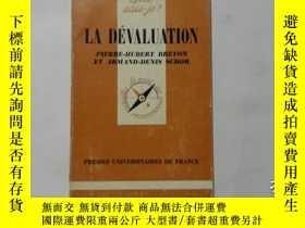 二手書博民逛書店法文原版罕見LA DEVALUATION 1670 拉氏貶值(Q