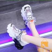 老爹鞋女夏季透氣鞋子網面運動休閒鞋【慢客生活】