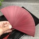迷你和風中國風全竹扇子雕刻鏤空古風女士摺扇手工藝扇卡通禮品扇 618購物節