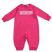 『小鱷魚童裝』童趣LOGO連身裝(0號~01號)558580