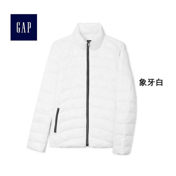 Gap女裝 簡約純色長袖鋪棉夾克 388272-象牙白