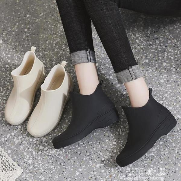 雨鞋女夏季短筒新款外穿防滑膠鞋洗車水靴防水廚房鞋水鞋厚底雨靴『小淇嚴選』
