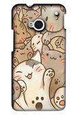 [M7 軟殼] HTC new One M7 801e 801s 手機殼 保護套 外殼 喵喵世界