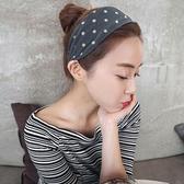 髮箍 頭箍 頭箍韓國簡約布藝寬邊波點圓點髮箍女百搭頭髮飾髮卡壓髮短髮成人