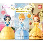 全套3款【日本正版】迪士尼公主 造型轉蛋 扭蛋 轉蛋 環保蛋殼 白雪公主 貝兒公主 BANDAI - 201670