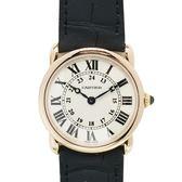 Cartier卡地亞Ronde Louis白色面盤玫瑰金石英腕錶K18PG W6800151【二手名牌BRANDOFF】