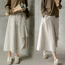 澳洲羊毛雨露麻長裙高腰中長版/設計家 D210519
