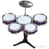 爵士鼓 初學者練習鼓仿真樂器音樂玩具鐳射五鼓1-2-3歲 AW5779【棉花糖伊人】