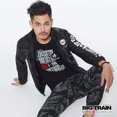 BIG TRAIN  水滸貼標圓領短袖-男-B80652