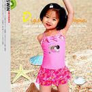 可樂女孩蝴蝶結蕾絲女童裝兒童泳衣.寶寶造...