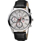 ORIENT東方 SP 尖鋒時刻計時手錶-白x黑/41mm FKU00006W