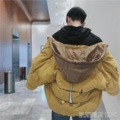 港風加厚棉衣男韓版寬鬆潮流帥氣面包服冬季加絨連帽棉服外套凱斯盾