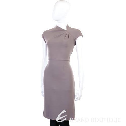 NINA 藕色抓皺短袖洋裝 1140554-C5