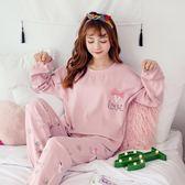 新春新品▷ 睡衣女 純棉長袖卡通居服套裝 女士可愛大碼睡衣
