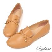 訂製鞋 MIT小文青蝶結豆豆鞋-棕色下單區