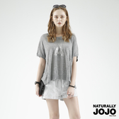 NATURALLY JOJO 字母電繡亮片線衫