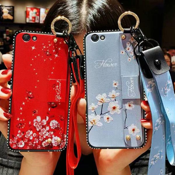 水鑽腕帶花朵 iphone6/6plus/ iphone7/7plus/ iphone8/8plus/iPhone X/s/XS Max/XR手機套 手機殼