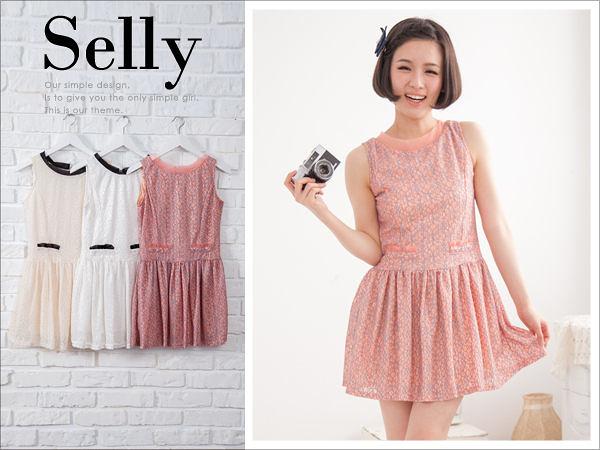 Selly * 沙粒 * 氣質優雅背心洋裝 * 現貨