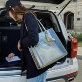 子母包夏天透明包包女2020流行新款潮時尚女士側背包百搭手提托特子母包 衣間迷你屋