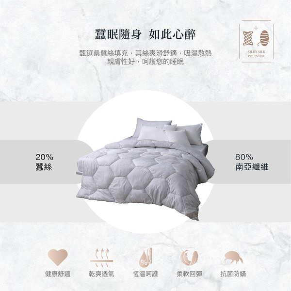 【現貨】頂級手工長纖蠶絲被 雙人6x7尺 2.6KG 棉被 被胎 Best寢飾