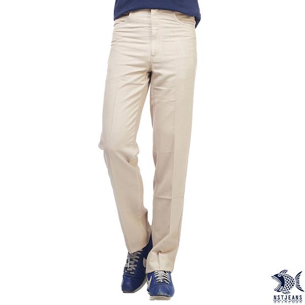 【即將斷貨】NST Jeans 黃金日落 莫代爾直紋 直筒休閒褲(中腰) 390(2001) 台製 男裝