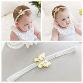 簡約亮面蝴蝶髮帶 兒童髮飾 攝影造型 金蔥髮帶
