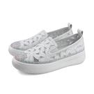 HUMAN PEACE 懶人鞋 厚底鞋 白色 花朵 女鞋 019-1-52 no157