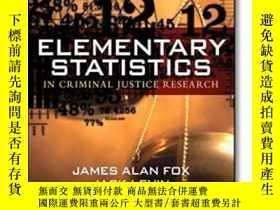 二手書博民逛書店Elementary罕見Statistics In Criminal Justice Research (3rd