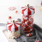 糖罐子 旋轉木馬密封罐 創意玻璃儲物罐咖啡茶葉糖果雜糧收納罐子     coco衣巷
