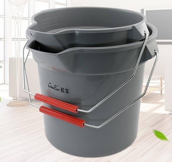 儲水桶供應超寶B-100A小號加水桶B-100B中號加水桶帶刻度保潔手提塑料桶-凡屋FC