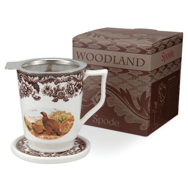 超值優惠1,080元~Spode 森林地帶Woodland-濾網杯蓋馬克杯