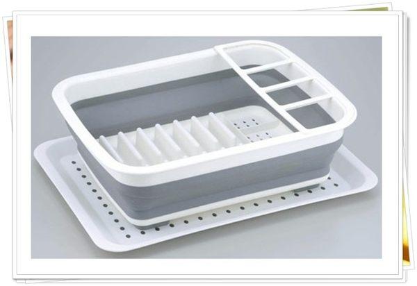 日本帶回 矽膠 折疊 流理臺 濾水籃 碗盤湯叉 伸縮 萬用 奶爸商城 563807
