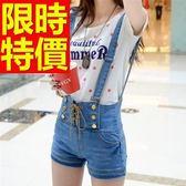吊帶褲-清新熱銷造型牛仔女短褲56i7[巴黎精品]