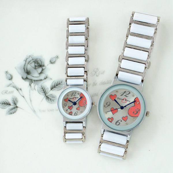 【Daniel Wang】甜美愛心-切割鏡面仿陶瓷女錶