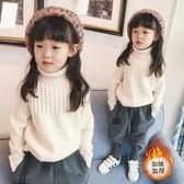 女童高領毛衣白色套頭 2020  加厚 兒童針織衫中童打底衫小山好物