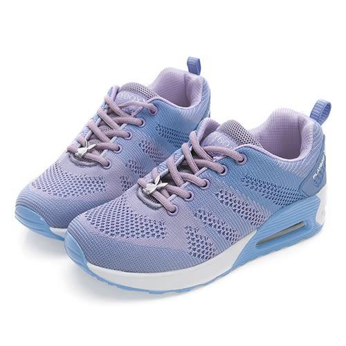 PLAYBOY 簡約生活 針織綁帶氣墊休閒鞋-紫