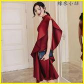 晚禮服 小禮服生日聚會宴會晚裝紅色連身裙