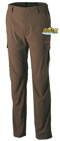 【山水網路商城】荒野WILDLAND 新款 男彈性口袋透氣抗UV長褲 透氣/排汗/抗UV/防潑水 0A31326-63 深卡其