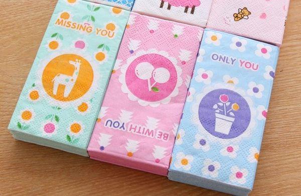 [協貿國際] 出門便攜三層彩色印花手帕紙巾 (10個價)