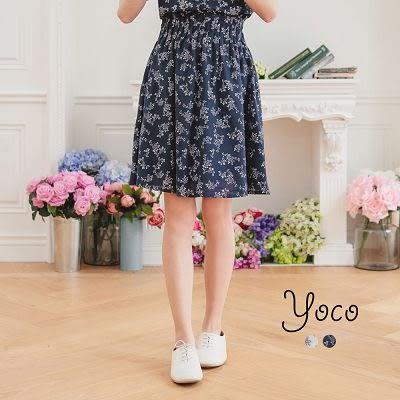 東京著衣【YOCO】花漾甜心細褶高腰裙-S.M.L(170653)
